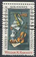 USA Briefmarke gestempelt 6c William M. Harnett Painting Rand oben / 1097