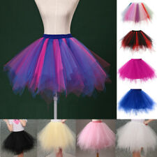 Mini Vestido Mujer Falda Tutú De Tul Princesa Ballet Enagua Gallina Fiesta Pettiskirt