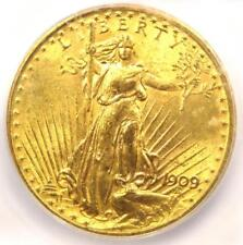 1909/8 Saint Gaudens Gold Double Eagle $20 Coin - ICG MS63 - $4,250 Value!