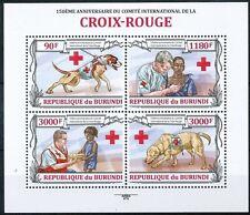 Red Cross, Doctor, Resuce Dog, Medicine, BURUNDI 2013 MNH 4v SS