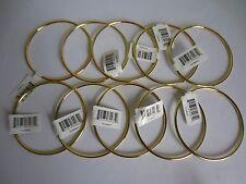 "Lot of 10 Gold Metal Brass Macrame Craft Dreamcatcher Rings 4"" Inch Diameter"