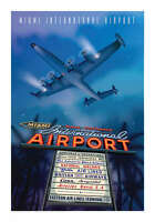 "JA031 MIA INTERNATIONAL AIRPORT POSTER 14"" X 20"" BY ARTIST CHRIS BIDLACK"