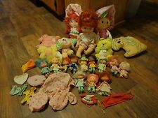 BIG LOT OF 1980's STRAWBERRY SHORTCAKE DOLLS & STUFFED ANIMALS (LOOK)