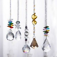5pcs Sun Catcher Rainbow Crystal Prisms Drop Hanging Ornament for Wedding Party