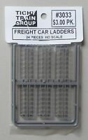 24 FREIGHT CAR LADDERS HO 1:87 SCALE LAYOUT DIORAMA TICHY TRAINS 3033