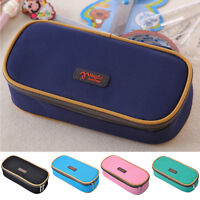 School Pencil Case Bag Large Capacity Canvas Pen Box Stationery Supplies Tool