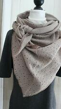 SALE XXL Dreiecktuch, Musseline , Halstuch  130 x 130 x 130 cm Tupfen rosa