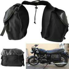 Motorcycle Saddle Bag Travel Knight Large Capacity Storage Bag with Cover Black