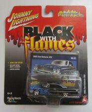 JOHNNY LIGHTNING 1/64 Street Freaks 1963 FORD GALAXIE 500 Black/Blue Flames
