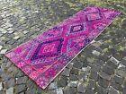 Wool rug, Bohemian rugs, Runner rug, Handmade, Turkish, Vintage | 2,7 x 8,8 ft