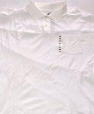 John Ashford Men's Solid White 100% Cotton Polo Shirt 4XB Big and Tall