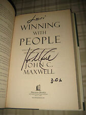 Winning With People by John C. Maxwell *SIGNED BY AUTHOR* HC w/DJ