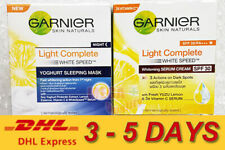 Set of Garnier Light Complete White Speed Day and Night Cream Skin Whitening