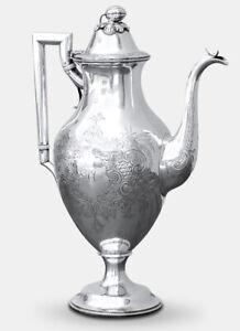 Ball Black & Co.,New York, Coin Silver Tea Pot, 1860s  531g