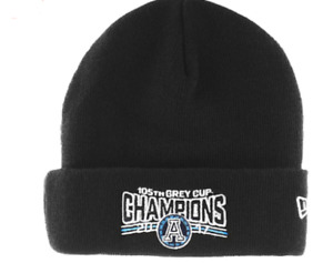 Toronto Argonauts New Era CFL 105th Grey Cup Champions Cuffed Toque Beanie OSFM