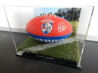 ✺Signed✺ CHRIS GRANT Bulldogs Football PROOF COA Western 2020 Jumper AFL