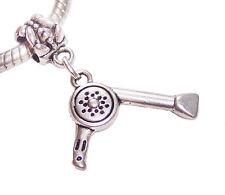 Blow Dryer Hairdryer Hair Stylist Gift Hairdresser Charm for European Bracelets