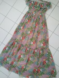 LIPSY London Floral Strapless Maxi Dress Size 10