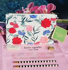 🌸 NWT Kate Spade Blossom Pencil Pouch Cosmetic Makeup Clutch Flowers Pink New