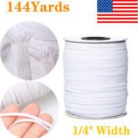 144 Yards 6mm Braided Elastic Cord High Strength Band Rope Knit Elastic Spool