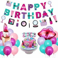 Spa Birthday Party Decorations for Girls, Makeup Themed Party Supplies Salon