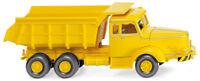 Yellow Krupp Titan Dump Truck WIKING 1/87 Plastic Miniature HO Scale