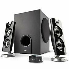 Cyber Acoustics CA-3602FFP 2.1 Speaker Sound System with Subwoofer and Control -