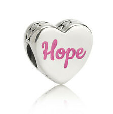 NEW! AUTHENTIC PANDORA Hope Ribbon Charm Pink Enamel - 9053