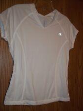 Champion  Womens Athletic Shirt Top White Medium