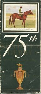 1949 - 75th Kentucky Derby program in Excellent Condition - PONDER