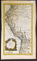 TREASURE MAP PERU -AMAZON 1753 COLOR 1715 FLEET AREA PIRATE GOLD COINS SHIPWRECK