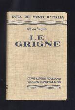 Guida Monti ,Silvio Saglio ,Le Grigne ,Club Alpino Italiano Touring 1937 R