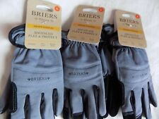 3 X Briers Flex & Protect Gloves, Grey, Large