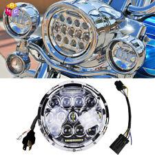 7 inch Reflector LED Headlight For Indian Chief Yamaha V-Star Road Star