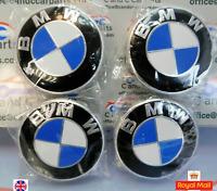 BMW Alloy Wheel Centre Caps   68mm 1 3 5  6 7 Series E F M X Z  Set of 4