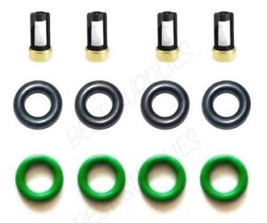Fuel Injector O-Rings Filters Repair Kit for Denso Chevy Saturn Pontiac 2.2/2.4