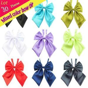 Adjustable (30 pcs/lot) Chrildren Kid Adjustable Solid Bow Tie Butterfly Bowtie