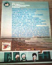 CURE RADIOHEAD Benicassim Festival,Spain 2002 UK Poster size Press ADVERT 13x10