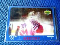 1997-98 UD DIAMOND VISION SIQNATURE MOVES #S1 WAYNE GRETZKY NEW YORK RANGERS NIC