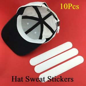 10Pcs Sweat Pads Anti Hat Disposable Absorbing Stickers Neck Liner Strip Pad Cap