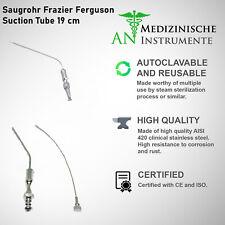 Saugrohr Frazier Ferguson Suction Tube 19 cm (No. / 10 / 12 / 14 Dental 3er Set