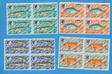 ASCENSION ISLAND - scott 130-133 - VFMNH blocks of four - fish   1970