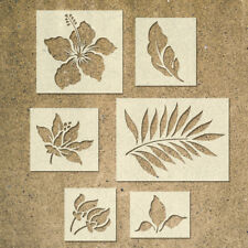 Tropical Flower Stencils Template - Pack of 6 - Ideal for Painting Wood Signs