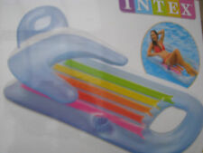 Intex King Kool blau Luftmatratze 160 x 85 cm Wasserliege Schwimmsessel Pool NEU