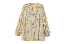 New H&M Anna Glover floral Patterned blouse top shirt L