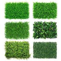 40cmx60cm Artificial Leaf Hedge Mat Fence Fake Plants Grass Wall Garden Panels