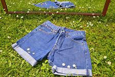 VTG Levis 535 Denim Hose Jeans Shorts individuell verschönern High Waist SZ S M51