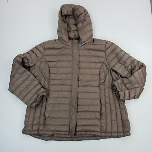 32 Degrees Heat Quilted Down Hooded Jacket Long Sleeve Womens Outdoor Ladies 3XL
