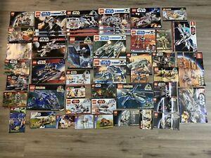 Vintage Lego Star Wars Instruction Manuals Books Huge Lot 7675 7754 7146 7104