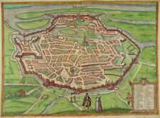 METZ LORRAINE GRANDE COL. EAU-FORTE VUE BRAUN HOGENBERG 1580 LOTHRINGEN I90